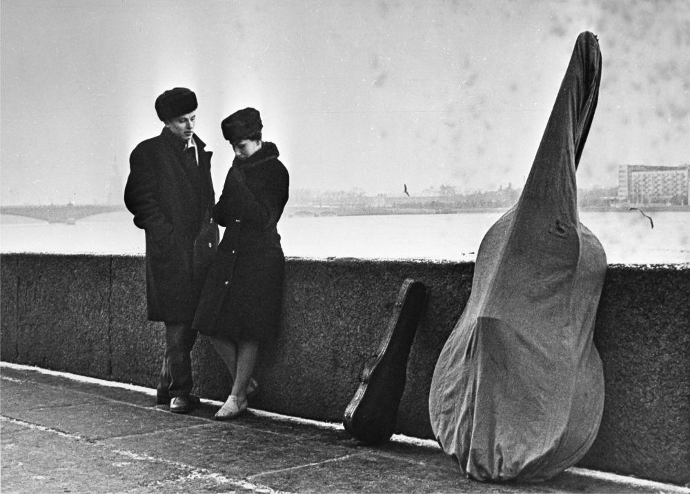 Работа фотографа Бориса Кудоярова Будним днем, 1970 год