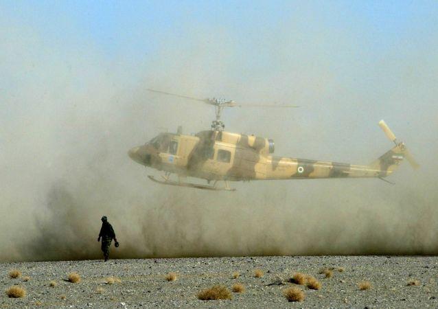 Irański helikopter wojskowy