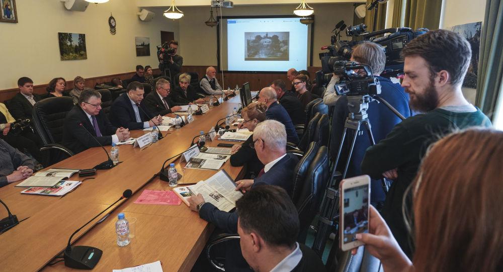 Okrągły stół w siedzibie fundacji Russkij Mir w Moskwie