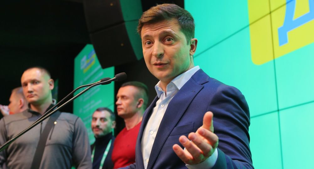 """Kandydat na prezydenta z partii """"Sługa narodu"""" Wołodymyr Zełenski"""