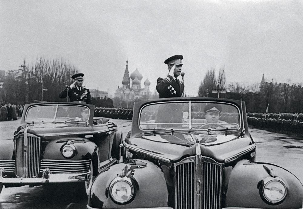 Amazasp Babadżanian, główny marszałek wojsk pancernych ZSRR