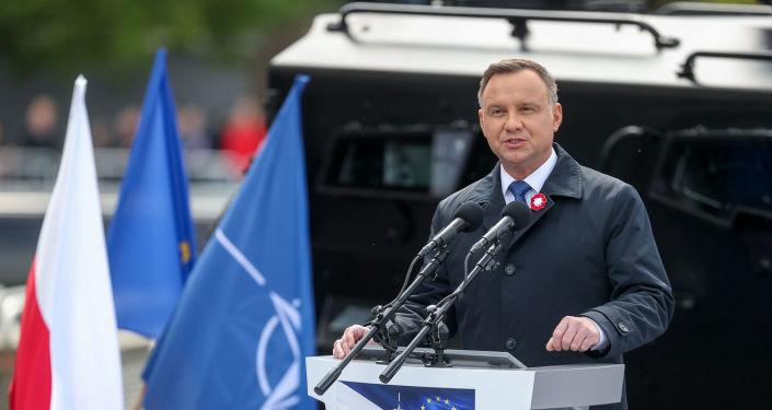 Prezydent Andrzej Duda podczas uroczystych obchodów Święta Konstytucji 3 Maja