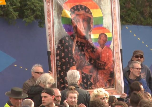 Protest solidarnościowy przeciw zatrzymaniu E. Podleśnej
