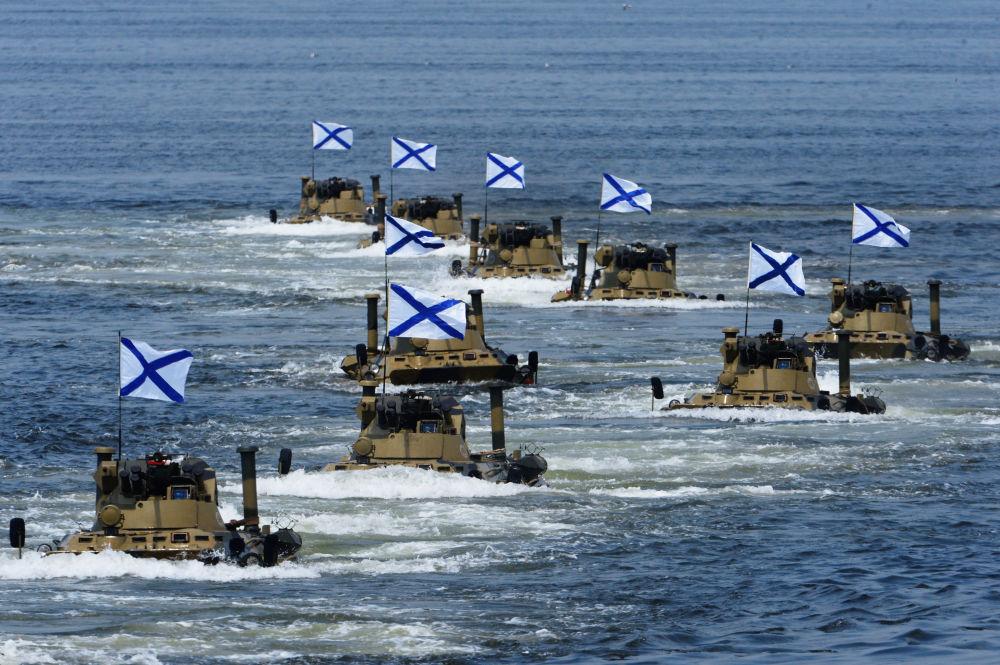 Flota Oceanu Spokojnego podczas ćwiczeń we Władywostoku