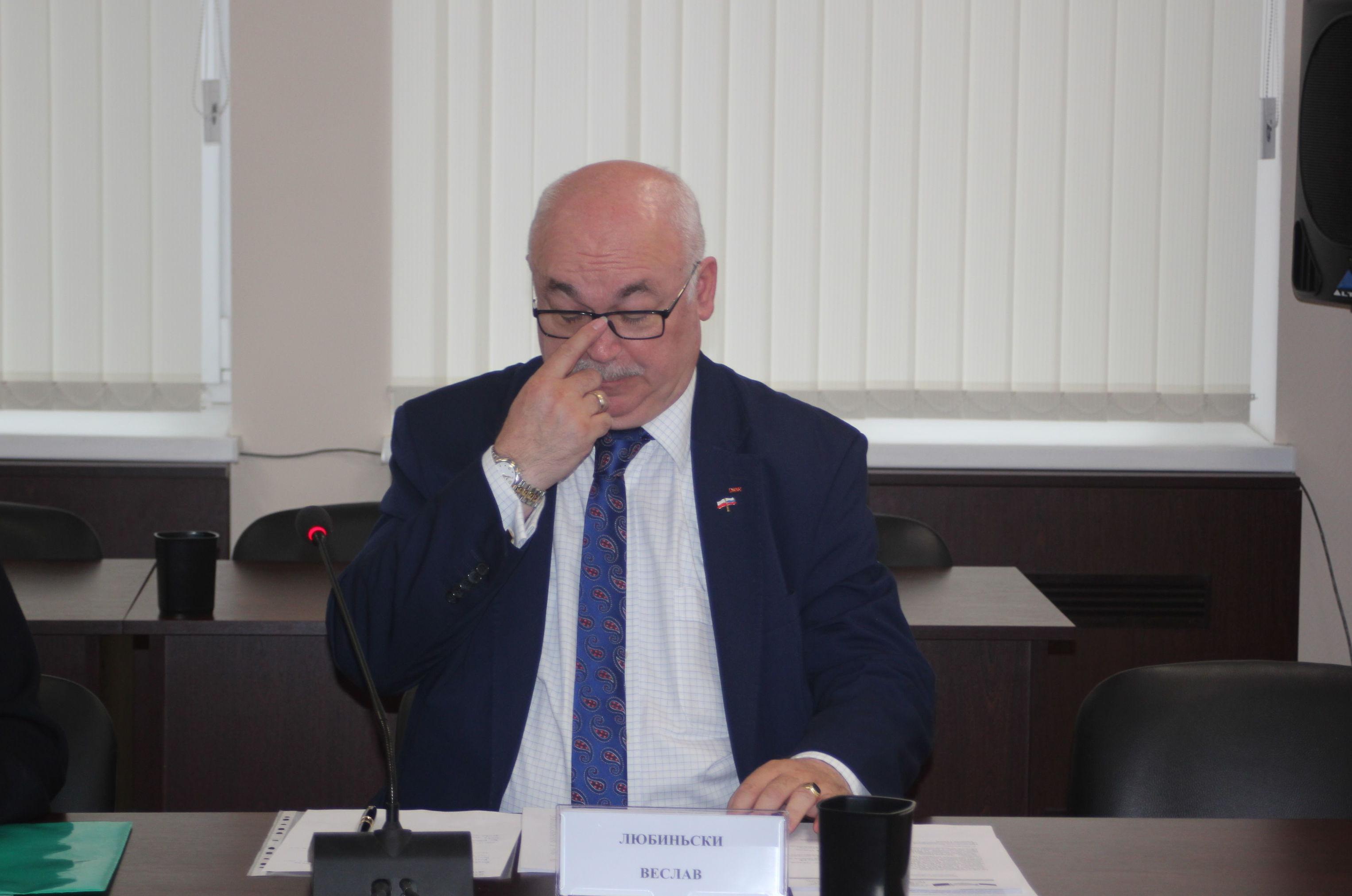 Prezes oddziału Stowarzyszenia Współpracy Polska-Wschód w Olsztynie Wiesław Łubiński