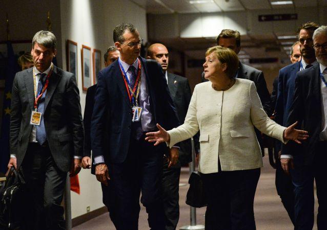 Angela Merkel podczas szczytu UE w Brukseli