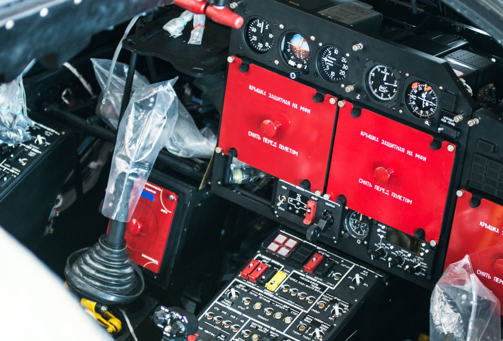 Kabina pilota śmigłowca szturmowego Ка-52 Alligator