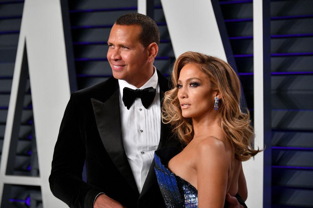 Alex Rodriguez i Jennifer Lopez podczas Oskarów, 2019 rok