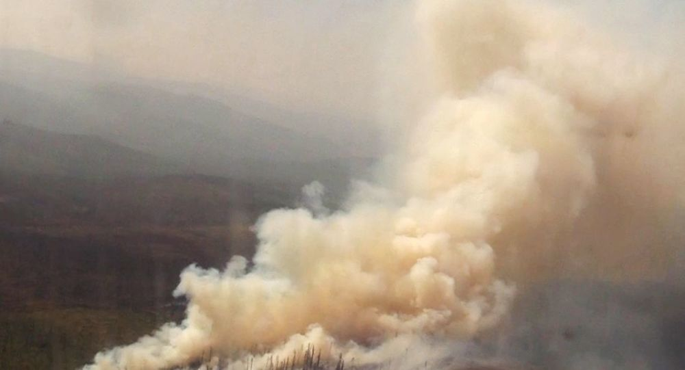 Likwidacja pożarów lasów w obwodzie irkuckim