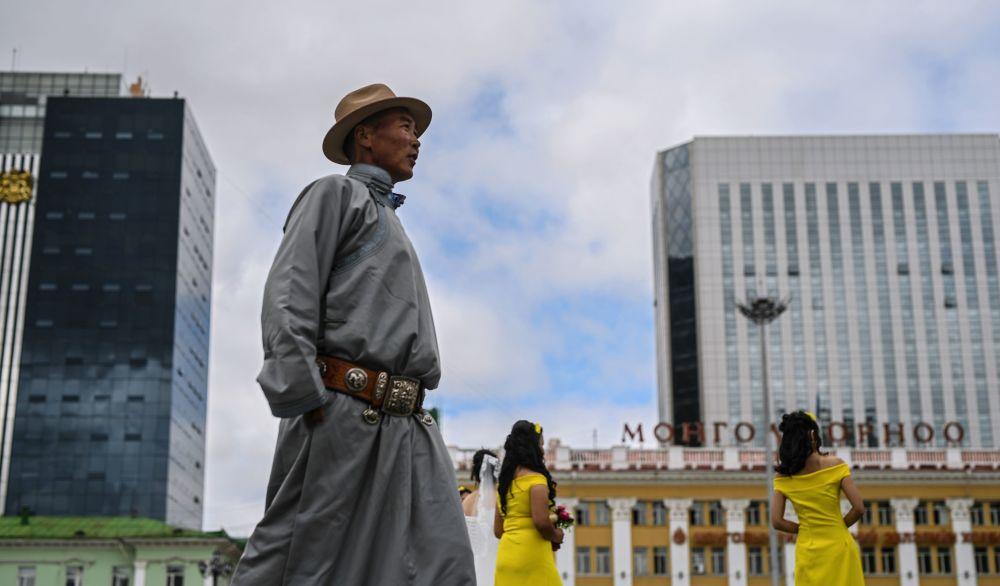 Plac Czyngis-chana w mieście Ułan Bator