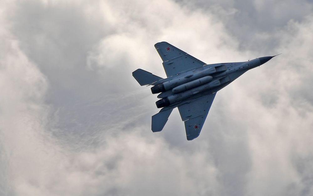 Rosyjski myśliwiec MiG-35 na Międzynarodowym Salonie Lotniczym i Kosmicznym MAKS 2019