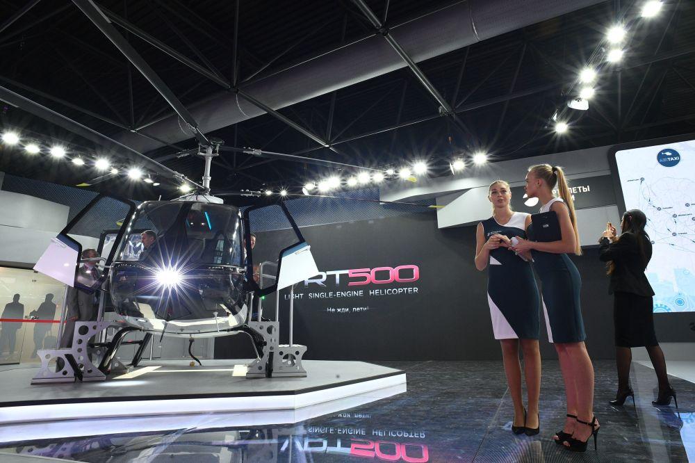 Śmigłowiec VRT500 na Międzynarodowym Salonie Lotniczym i Kosmicznym MAKS 2019