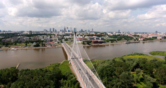 Warszawa, widok na Wisłę