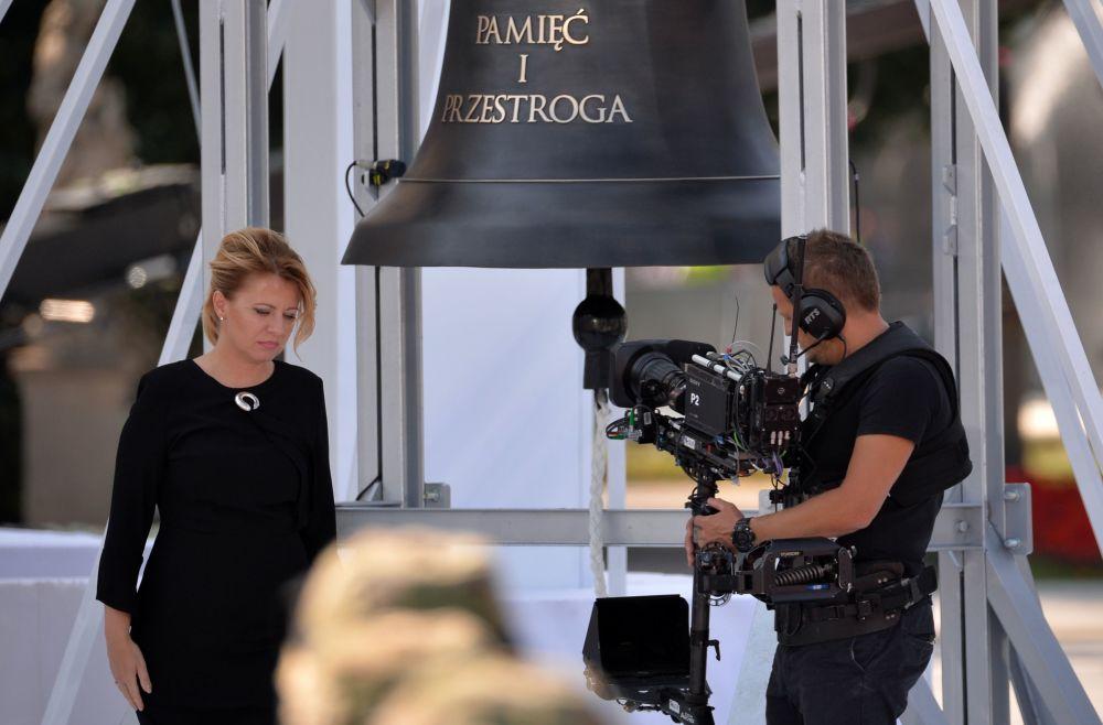 Prezydent Słowacji Zuzana Čaputová na uroczystości z okazji 80. rocznicy wybuchu II wojny światowej w Warszawie