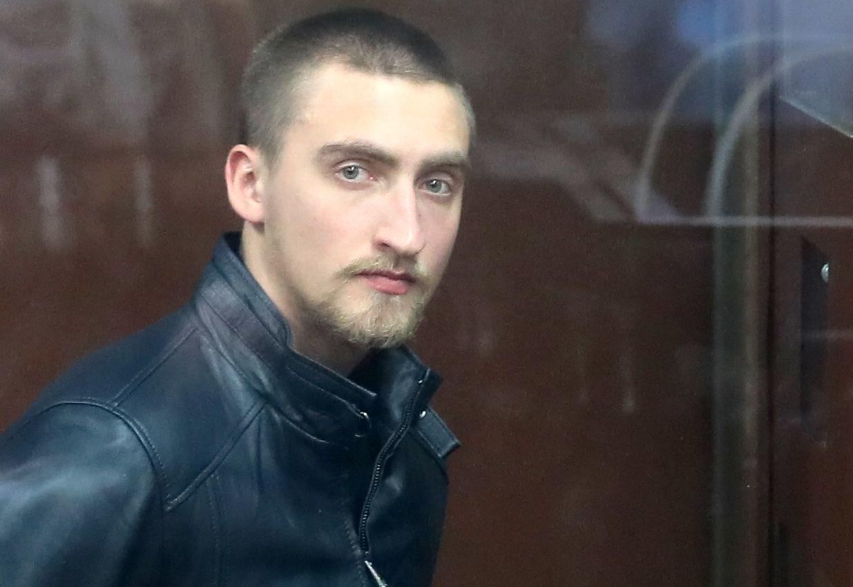 Paweł Ustinow w czasie ogłoszenia wyroku w sali posiedzień Twerskiego Sądu Rejonowego w Moskwie