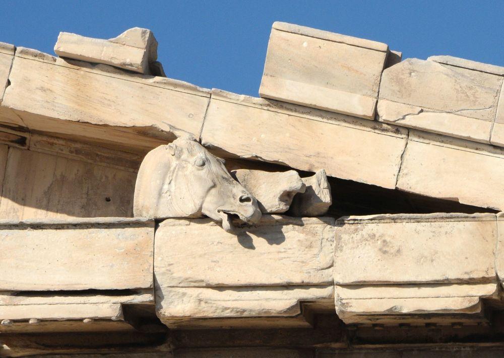 Detale wschodniego frontonu Partenonu
