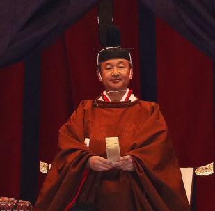 Nowy cesarz Japonii Naruhito w Pałacu Cesarskim w Tokio
