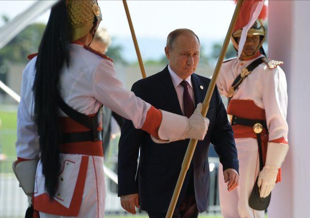 Prezydent Rosji Władimir Putin na szczycie BRICS w Brazylii