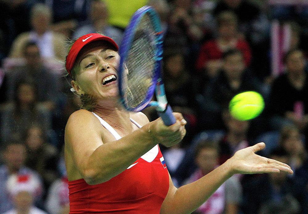 Maria Szarapowa na Fed Cup - 2015, Kraków