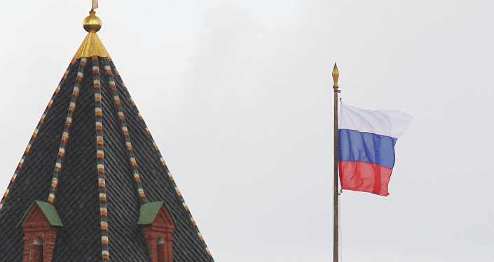 Flaga i godło FR, Kreml