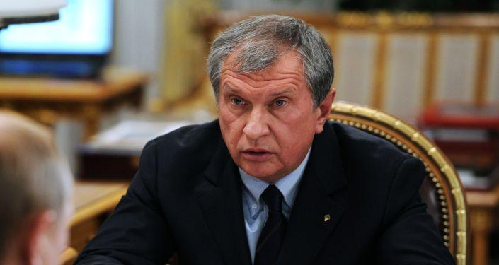 Prezes Rosnieftu Igor Sieczin