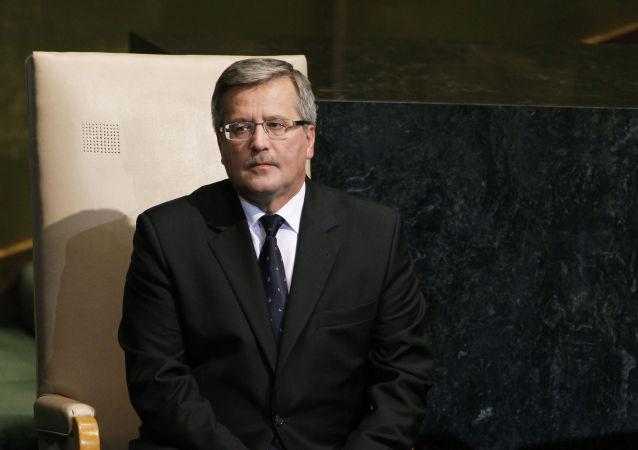 Prezydent Polski Bronisław Komorowski