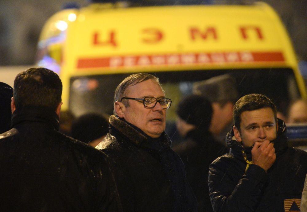 Michaił Kasjanow i opozycjonista Ilja Jaszyn na Dużym Moście Moskworeckim w centrum Moskwy, gdzie został zamordowany Borys Niemcow