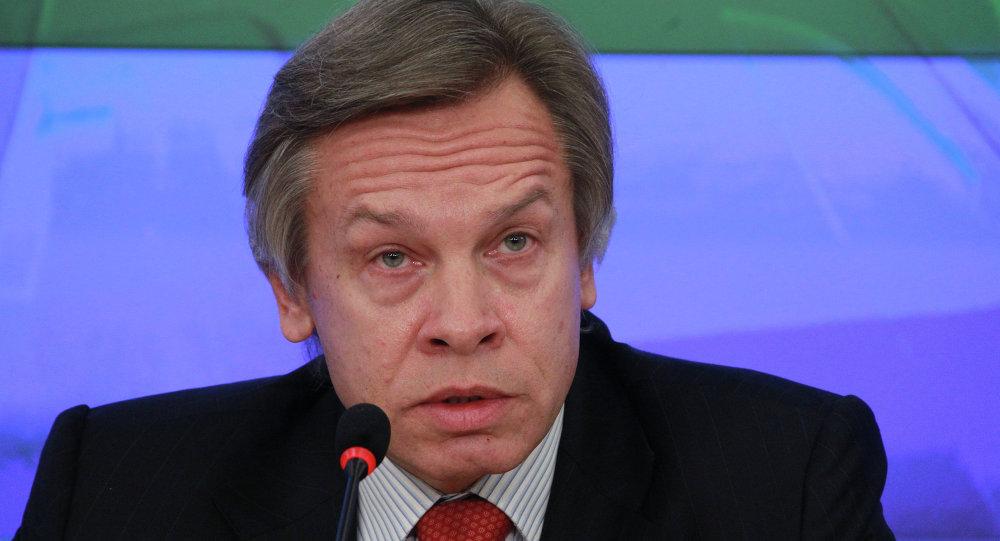 Przewodniczący komisji Dumy Państwowej do spraw międzynarodowych Aleksiej Puszkow