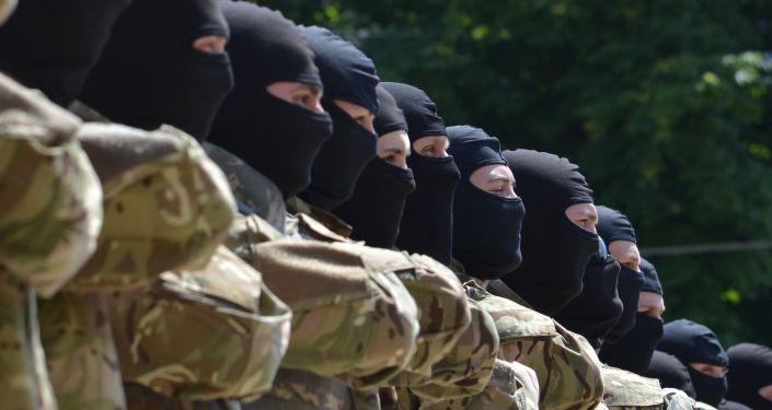 Żołnierze z batalionu Azow