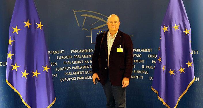 Dziennikarz Rossiya Segodnya Leonid Swiridow