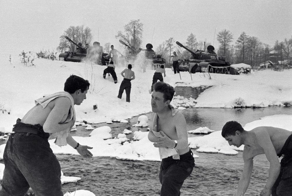 Zimne nacierania po ćwiczeniach wojskowych