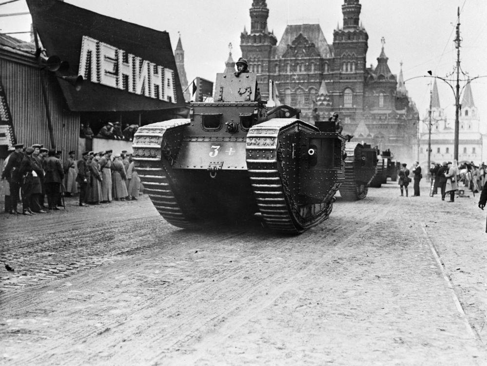 Czołg na defiladzie w Moskwie