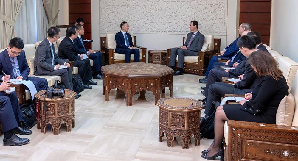 Spotkanie Baszara al--Asada i Chen Xiaodonga