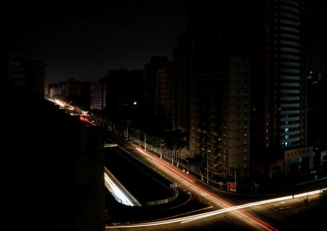 Caracas podczas awarii systemu energetycznego.