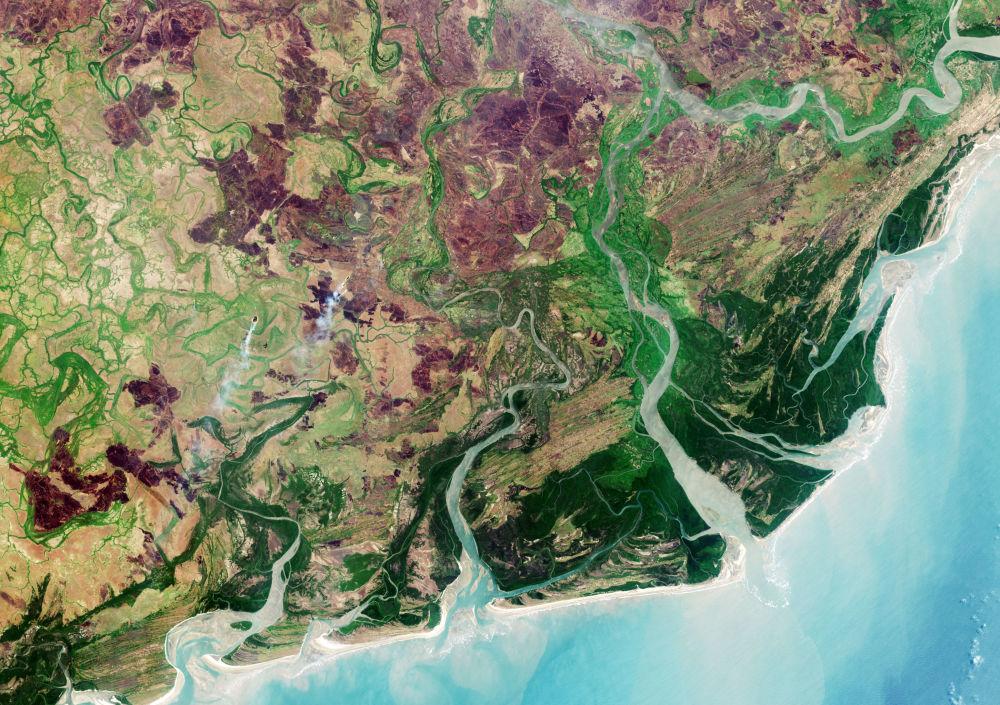 Rzeka Zambezi w południowej części Afryki