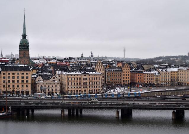 Pociąg metra w Sztokholmie