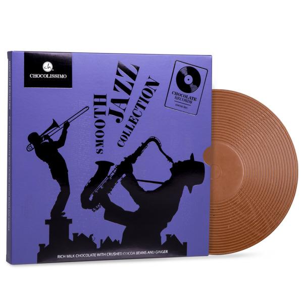 Czekoladowa płyta gramofonowa Smooth Jazz polskiej marki Chocolissimo
