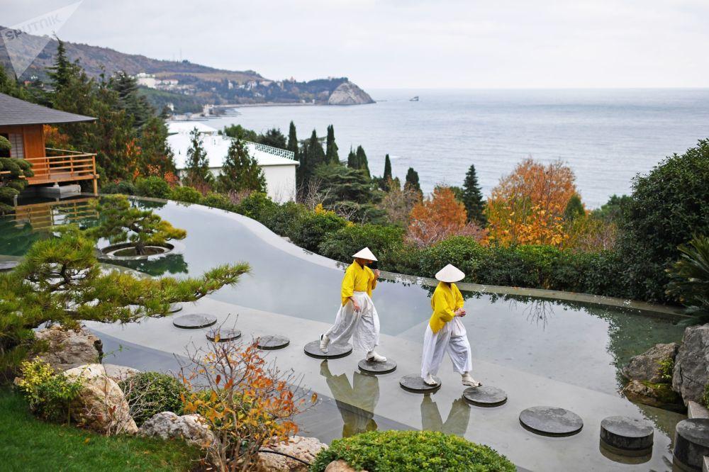 Ogród japoński w parku Ajwazowskoje