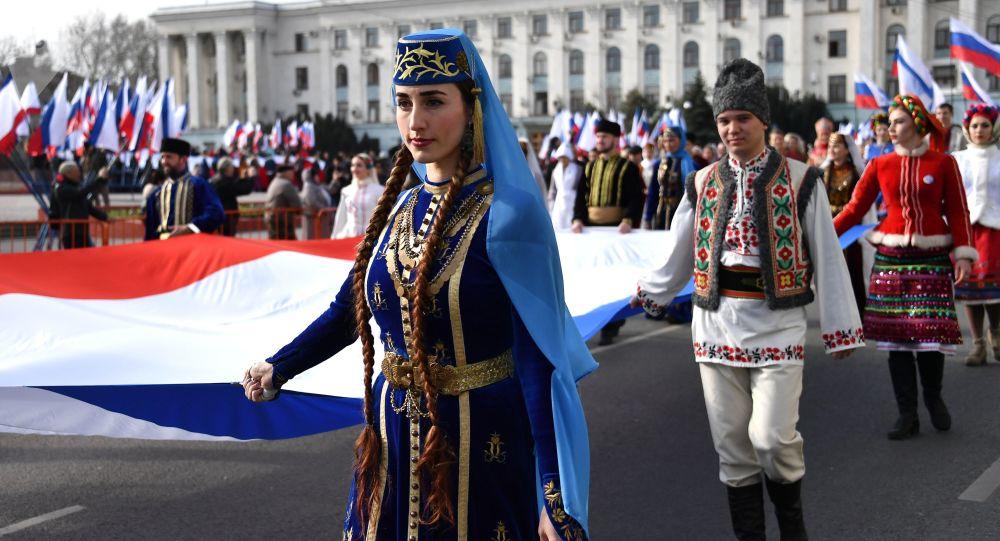 Obchody 5. rocznicy zjednoczenia Krymu z Rosją