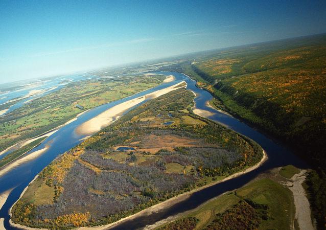 Rzeka Lena, Jakutia, Rosja