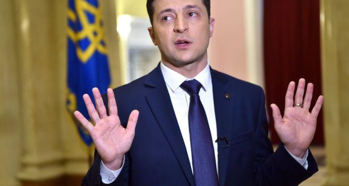 Kandydat na prezydenta Ukrainy Wołodymyr Zełenski