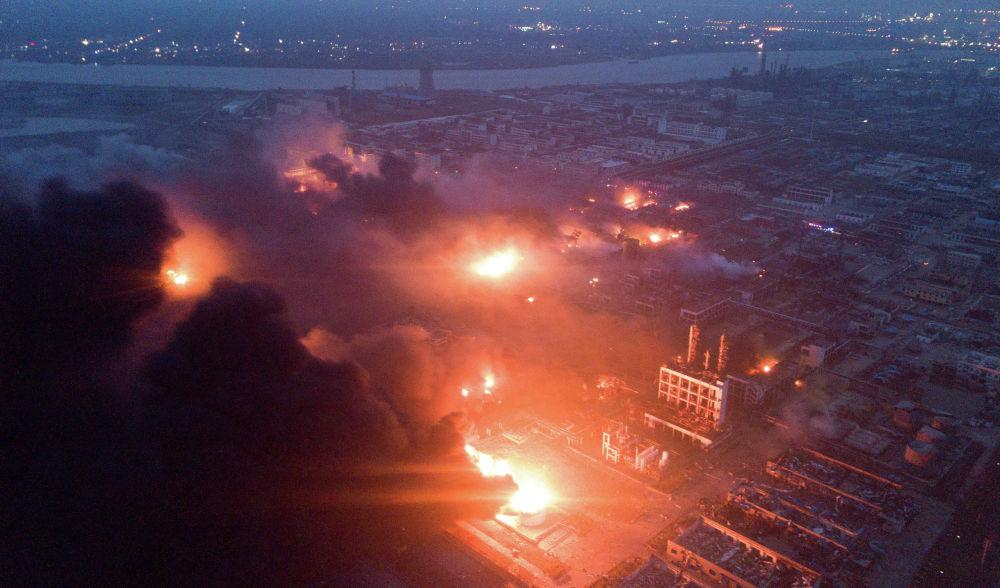 Eksplozja w fabryce chemicznej w chińskiej prowincji Jiangsu