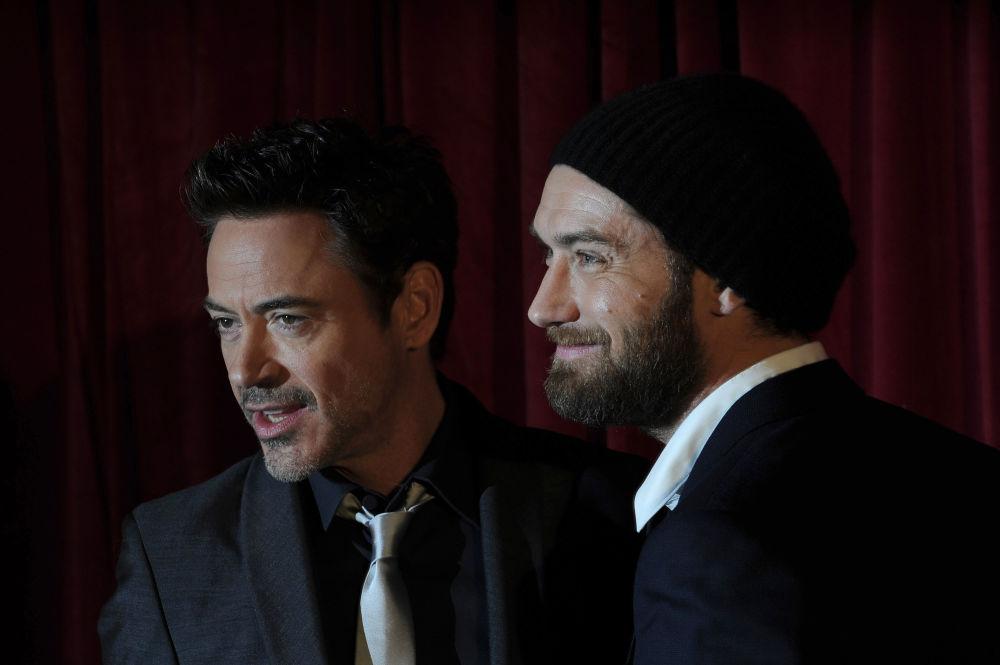 Amerykański aktor Robert Downey i brytyjski aktor Jude Law