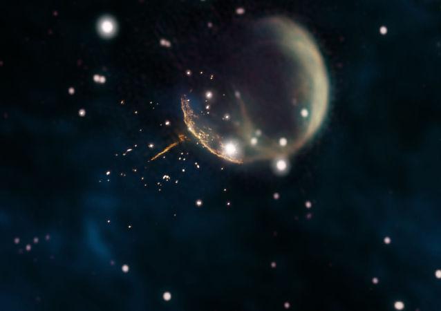 Szczątki supernowej CTB 1 i prosty świecący się ślad pulsara J0002+6216