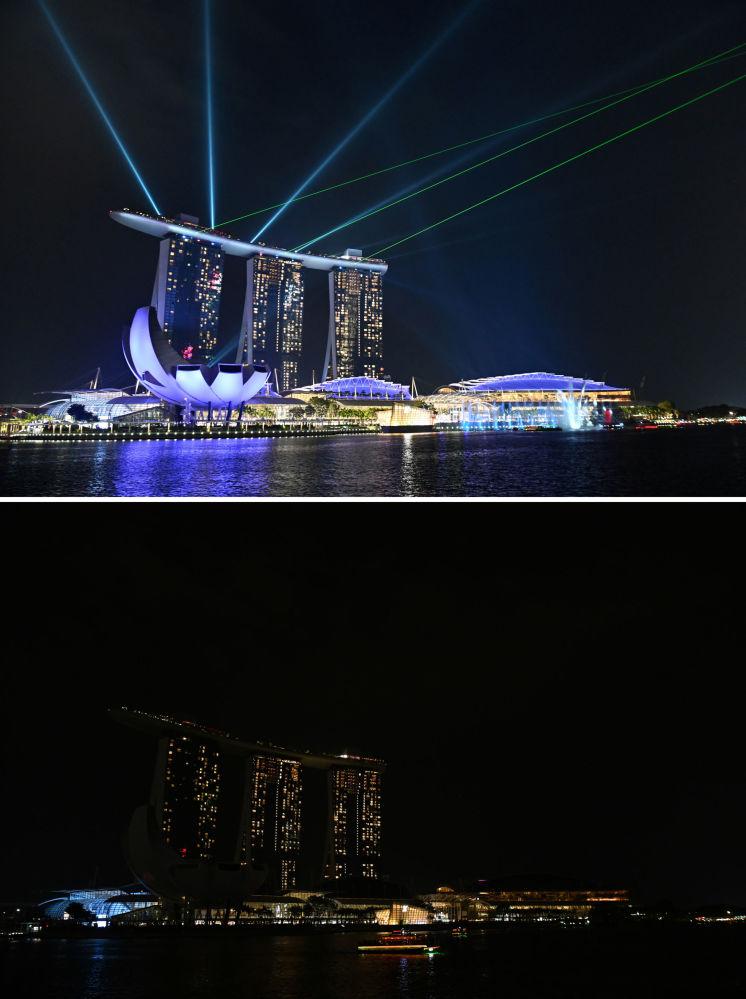 """""""Godzina dla Ziemi"""" w Singapurze."""