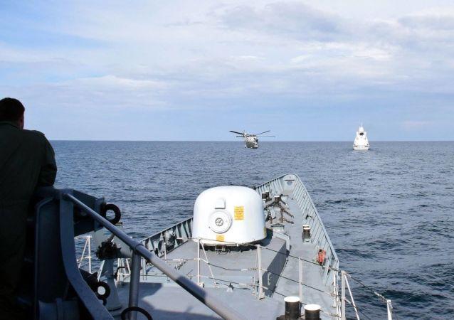 Wspólne ćwiczenia marynarki wojennej Ukrainy i okrętów NATO na Morzu Czarnym
