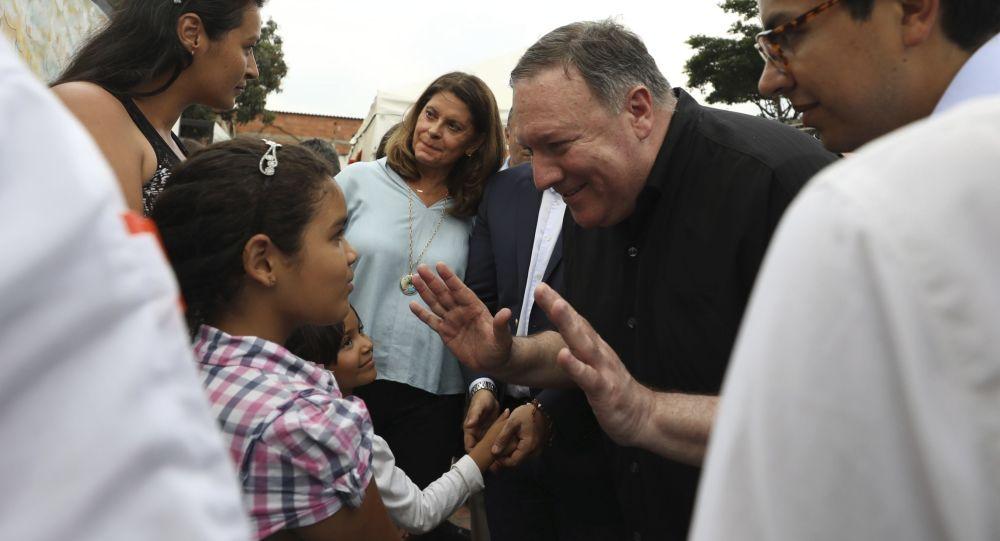 Wizyta sekretarza stanu USA Mike'a Pompeo na granicy Wenezueli i Kolumbii