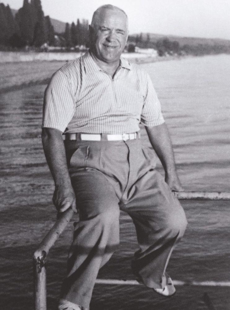 Gieorgij Żukow w Soczi w latach 50. XX wieku