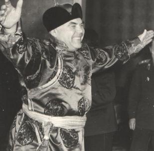 Minister obrony ZSRR Rodion Jakowlewicz Malinowski w Mongolii, 1961 rok