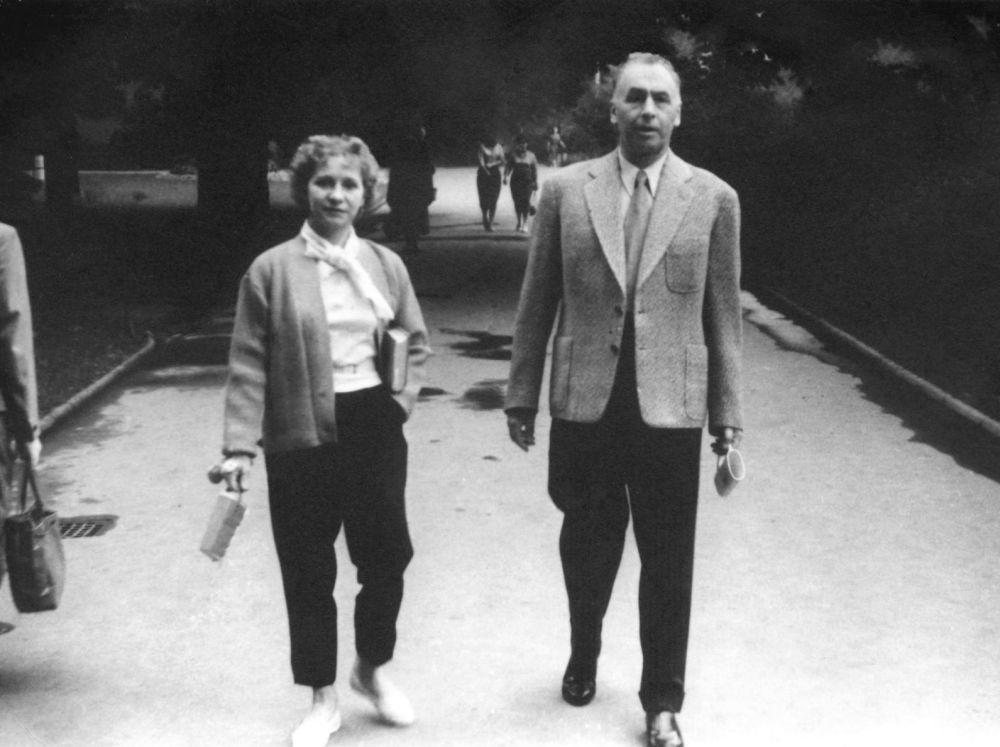 Szef Sztabu Generalnego Armii Czerwonej z żoną w Czechosłowacji